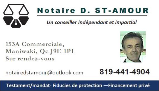 Carte affaires notaire